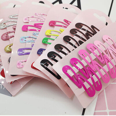 Wholesale 10pcs Multicolor Kid Girl Hairpin BB Snap Hair Clips Hair Accessories (Wholesale Childrens Accessories)
