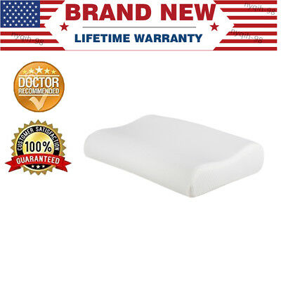 US Sleep Innovations Memory Foam Contour Pillow w/ Zip-off Cotton Cover Home Bed