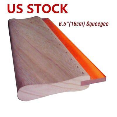 Us 6.5 Inch Silk Screen Printing Squeegee Ink Scraper Scratch Board 75 Durometer
