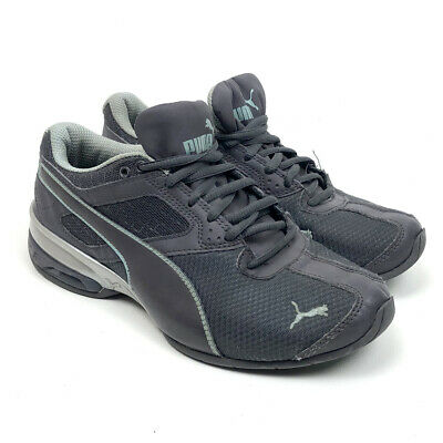 Puma Womens Tazon 6 Running Athletic Shoes Gray Lace Up Mesh Leather Size 7