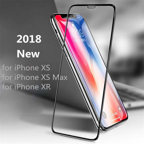 For iPhone XS Max XR Full Cover Tempered Glass Screen Protector Protective Film