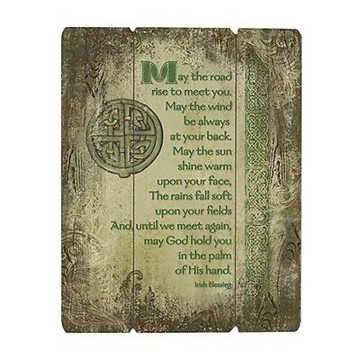 """Irish Blessing Wood Pallet Sign 12 X 15"""" (D3364) May the Road Rise to Meet You"""