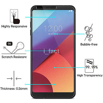 2Pcs New 9H+ Premium Tempered Glass Screen Protector Film for LG G6/G6 Plus CA