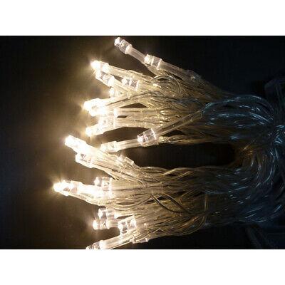 LED Lichterkette 30 Lampen WarmWeiß blinkend Weihnachtsbeleuchtung Blinkfunktion ()