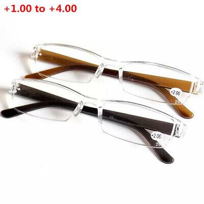 Super Lightweight Plastic Transparent Rimless Reading Glasses Eyeglasses (Super Lightweight Eyeglasses)