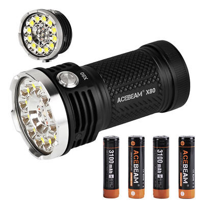 (Acebeam X80 12*CREE XHP50.2 led 25000 lumens rescue searching led Flashlight  )