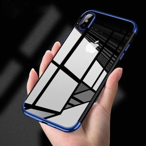 Bumper Shockproof Slim Cover Plating Soft TPU Case For Apple iPhone 7 8 plus X