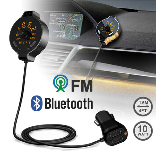 Wireless Bluetooth Car Kit FM Transmitter MP3 Player Dual USB Charger Music LCD