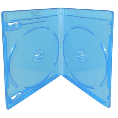 100 Double Standard 12mm Hold 2 Discs Premium Blu-Ray Blu Ray DVD Case Logo