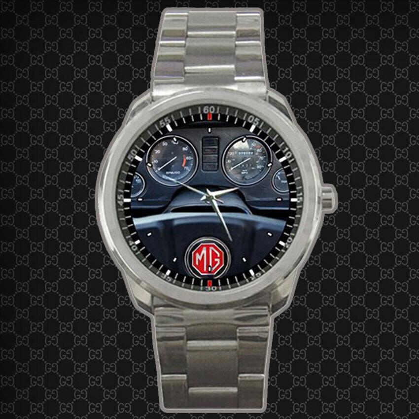 1964 MG MGB MGB Black Roadster Sport Metal Watch Free Box
