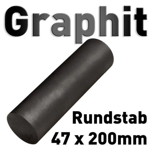 "Graphit Rundmaterial 47 x 200 mm Zylinder Elektrode Stab Kohlenstoff 1.85""x8"" 50"