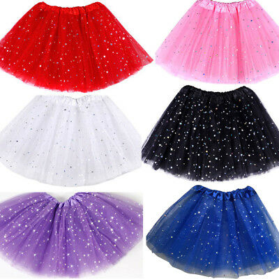 Sparkling Princess Tutu Skirt Girls Kids Party Ballet Dance Wear Dress Clothes