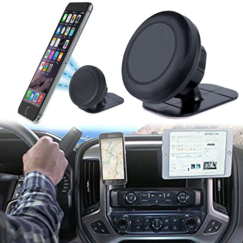 360°Rotating Magnet Car Windshield Mount Holder Stand for iPhone Samsung GPS US