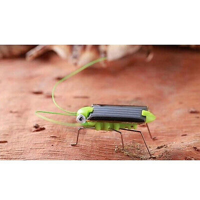Child Kid's Toy Small Solar Power Robot Insect Locust Grasshopper Science Gift U