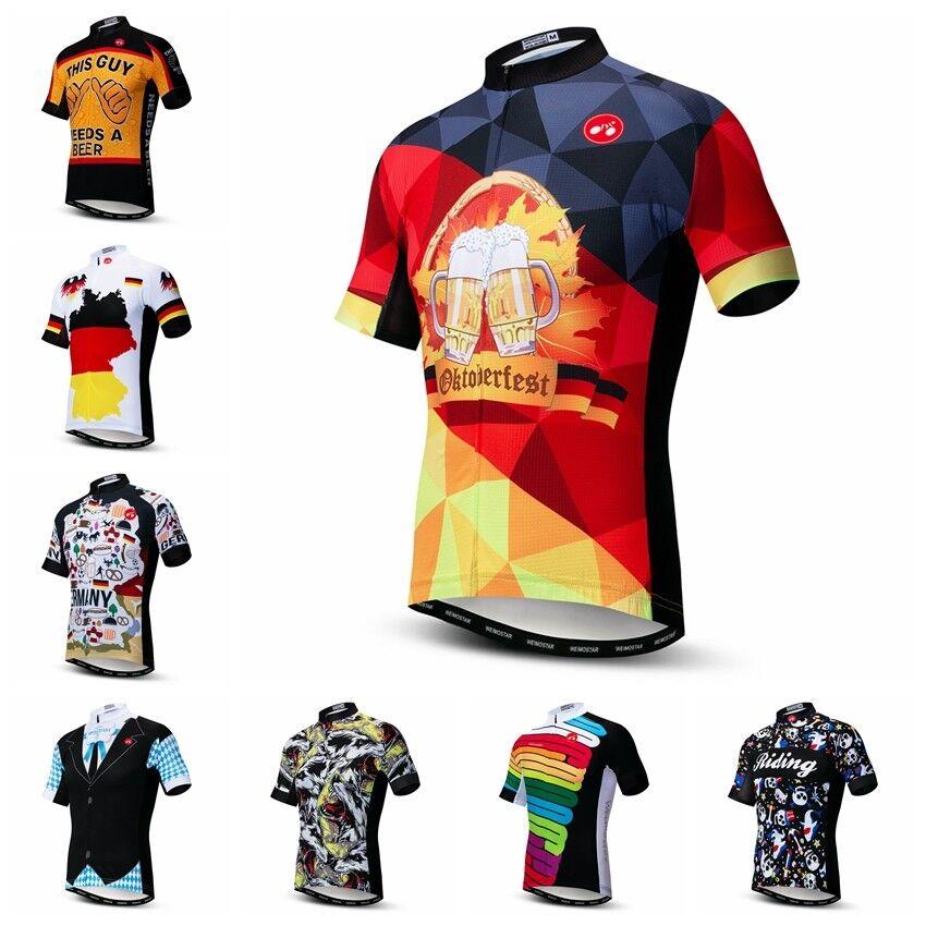 Men/'s Cycling Jersey Bicycle Clothing Short Sleeve Sportwear Bike T-Shirt Tops
