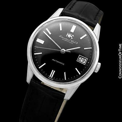 1972 IWC Vintage Mens Watch, Cal. 8541B Pellaton Automatic with Date - SS Steel