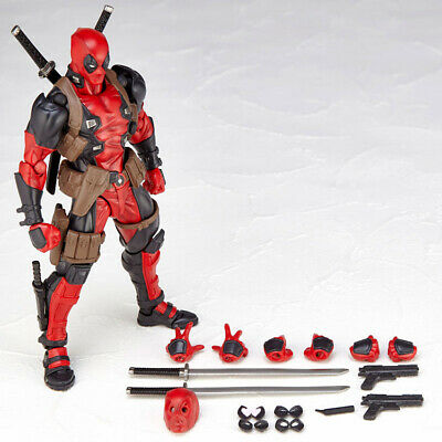 Action Figure Yamaguchi Deadpool Marvel Kaiyodo Revoltech In Box Amazing Gift