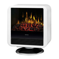 Dimplex Cube White Freestanding Electric Stove/Fireplace/Heater