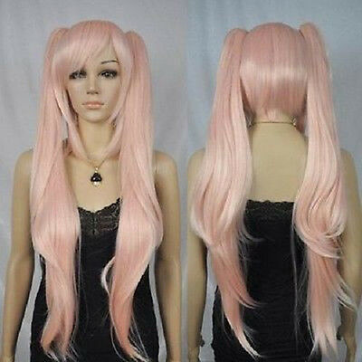Pink pigtails cosplay wigs +Hairnet (Pink Pigtail Wig)