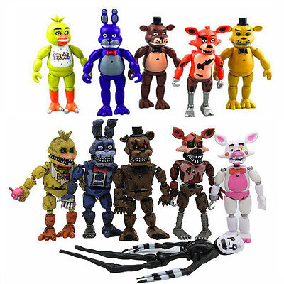Fnaf Five Nights At Freddys Action Figures Led Light Pvc Toy Kids Xmas Gift Us