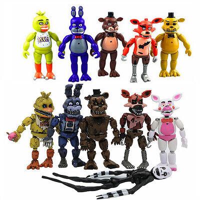 Fnaf Five Nights At Freddys Action Figures Led Light Pvc Toy Decor Kids Gift