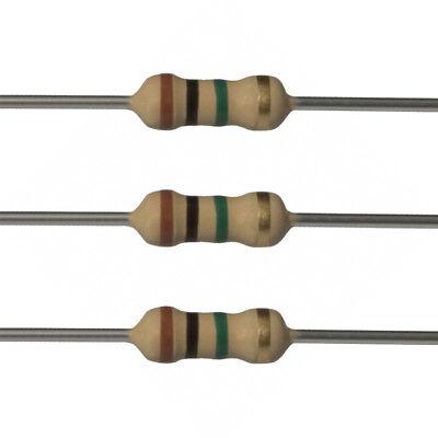 10 X 1m Ohm Carbon Film Resistors - 14 Watt - 5 - 1m - Fast Usa Shipping