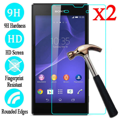 2Pcs Premium Real Screen Protector Tempered Glass Film For Sony Xperia Cellphone