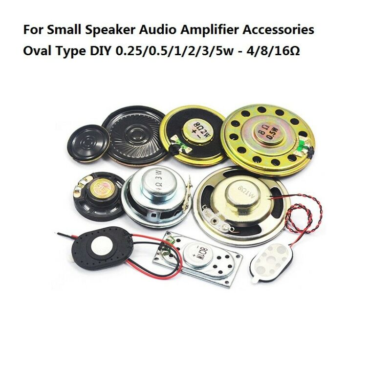 Small Horn Speaker Audio Amplifier Accessories Oval 0.25/0.5/1/2/3/5w/4/8/16 Ohm