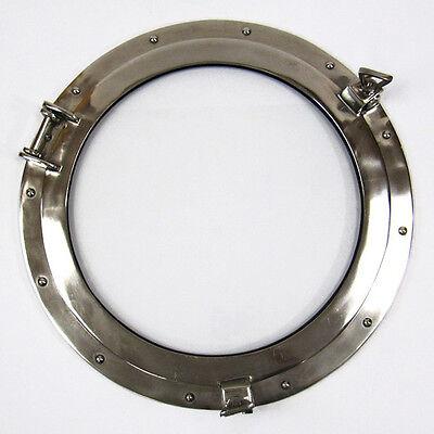 """Aluminum Chrome Finish 20"""" Ships Porthole Glass Window Round Nautical Wall Decor"""