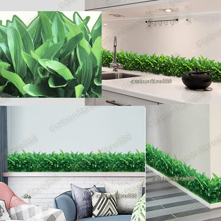 Home Decoration - ECO Nature Grass Wall Decal Stickers Art Decor Green Plant Leaves Home Mural DIY