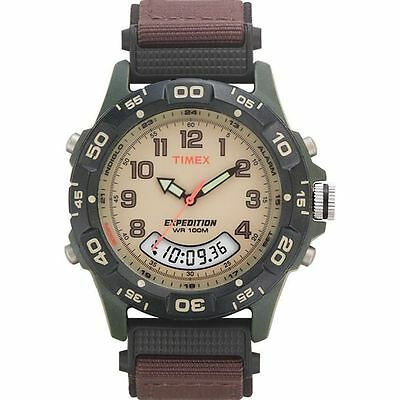 Timex T45181, Men's Expedition Combo Brown Watch, Indiglo, Chronograph