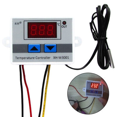 220v 10a Digital Thermostat Control Switch Temperature Controller Ledprobe New