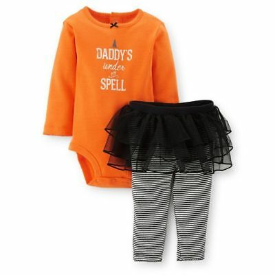Baby Girl Halloween Outfit - Carter's 2 pc Daddy's Under My Spell Sz 18 mo NEW - Daddy Daughter Halloween Costumes