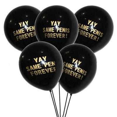 2018 10 Black Team Bride Gold Pink Hen Night Do Party Wedding Latex Balloons