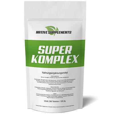 Glucosamin Komplex Tabletten (280 Tabletten SUPER KOMPLEX  3000mg / Glucosamin + Chondroitin + MSM + Vitamin C)