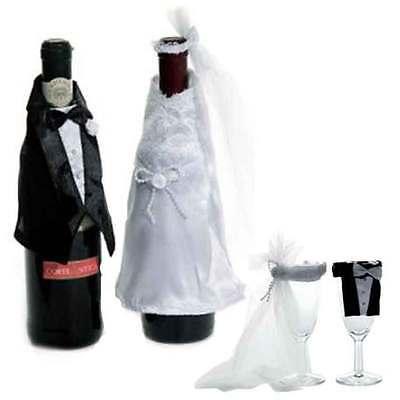 Sektglas Kostüm Flaschen Dekoration HOCHZEITS GESCHENK Ehepaar Brautpaar - Paare Hochzeit Kostüm