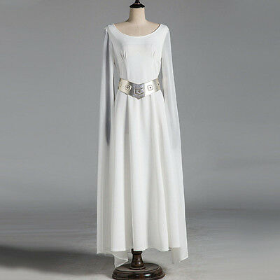 Star Wars Princess Leia Halloween Cosplay Costume Women Fancy Long White Dress - Plus Size Princess Leia Costume