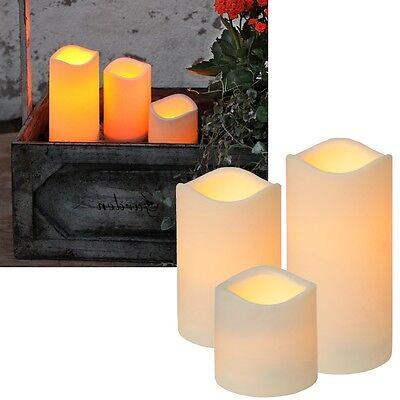 LED Kerze für Außen mit Timer flackernde Kerzen flackernd Outdoor Garten