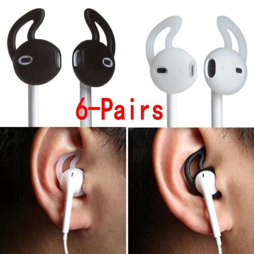 6pairs Silicone Earpods Earbud Cover and Ear hook for iPhone