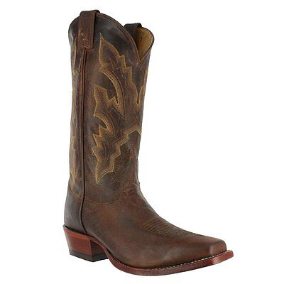 Justin Mens 2680 Tan Distressed Vintage Goat Western Boots 7D New USA