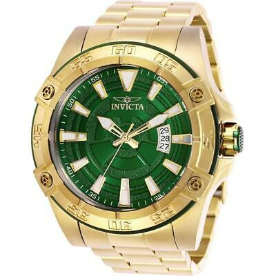 fcf7c015d Invicta Pro Diver 27013 Men's 52mm Gold-Tone Automatic Watch with Green Dial