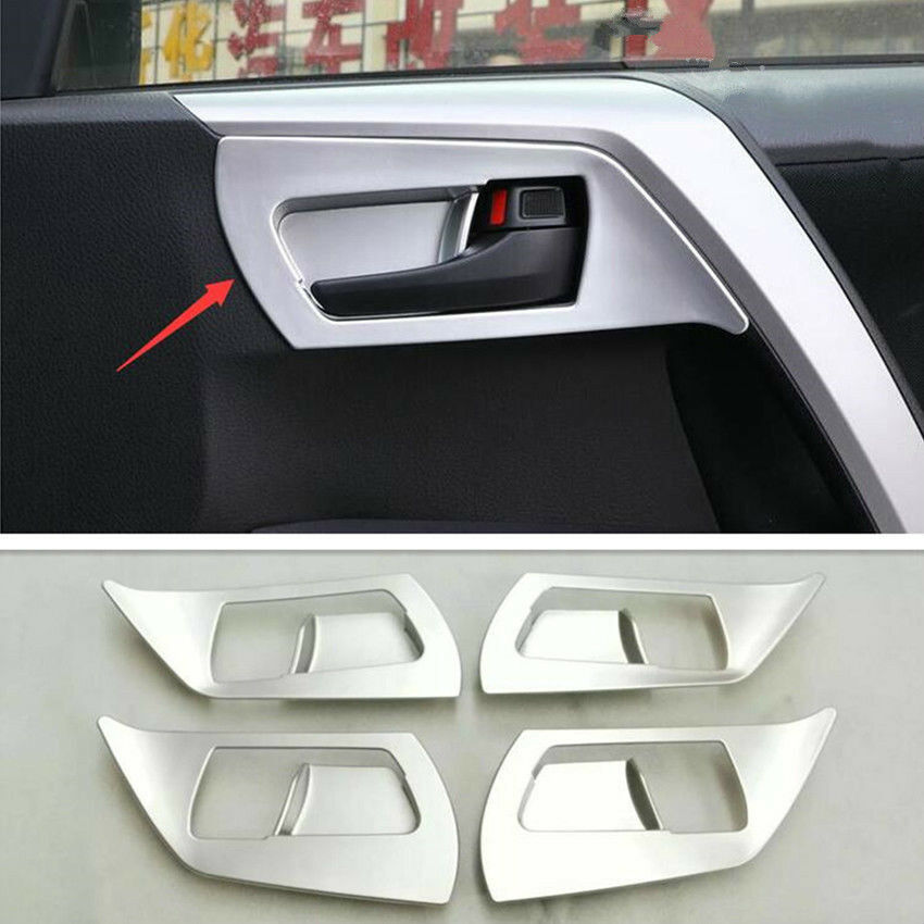Chrome Door Handle Bowl Cover Trim for 2013-2018 Toyota RAV4 RAV 4