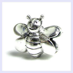 925-Sterling-Silver-Smile-Honey-Bumble-Bee-Bead-for-European-Charm-Bracelet