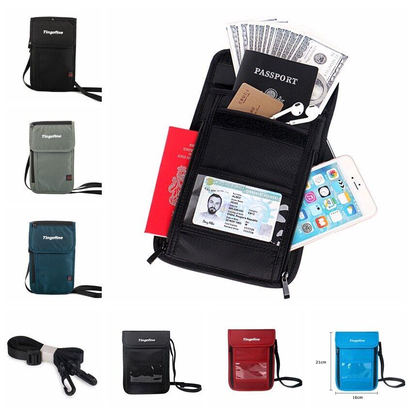 Men RFID Blocking Nylon Slim Wallet Money Clip Credit Card H