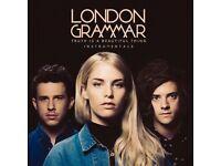 LONDON GRAMMAR STANDING TICKETS x 2 - £90 each - London - 21 October