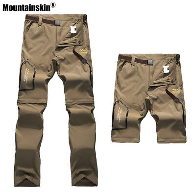 Hiking Pants Mens Outdoor Trousers Camping Fishing Sport Removable Shorts S-6XL