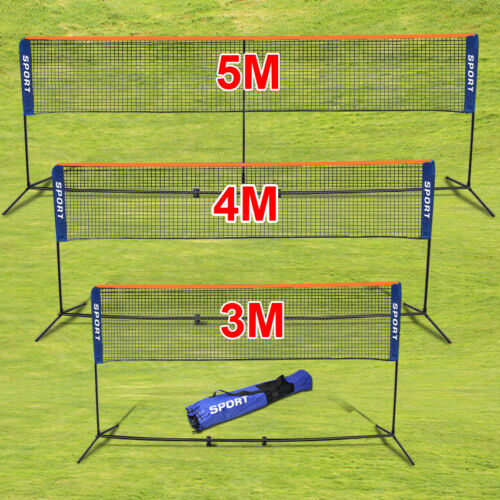 Foldable Portable 3/4/5M Badminton Net Volleyball Tennis Nets With Frame Stand
