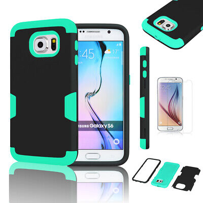 For Samsung Galaxy S6 New Hybrid Rugged Rubber Shockproof Hard Case