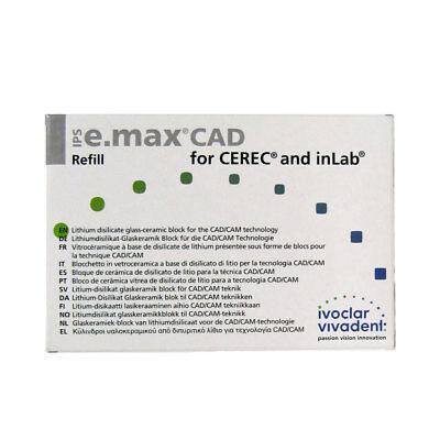 Ivoclar Vivadent Ips E.max Cad Cerec Ht B3 C14 5 Blocks Emax