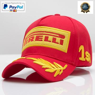 Racing Hat F1 Embroidery Pirelli Sports Moto GP Peaked Baseball Cap For Men
